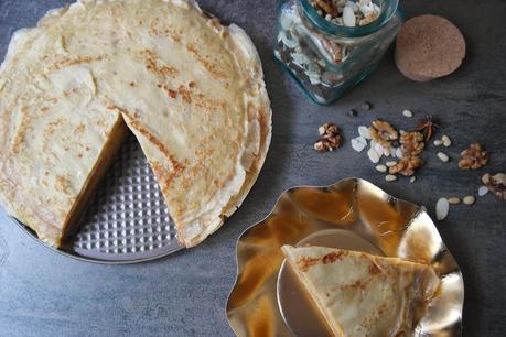 [Recette] Pour la Chandeleur, je tente le gâteau de crêpes au caramel au beurre salé !