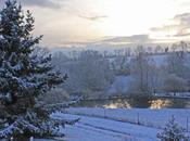 Jour neige dans bled Normandie