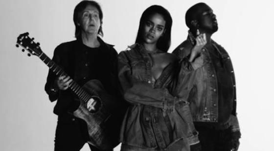 NEW MUSIC VIDEO: RIHANNA, KANYE WEST, & PAUL MCCARTNEY – « FOURFIVESECONDS »