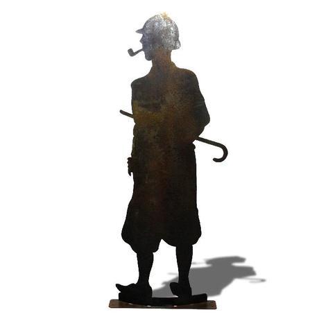 Sherlock Holmes grandeur nature réalisé sur commande.