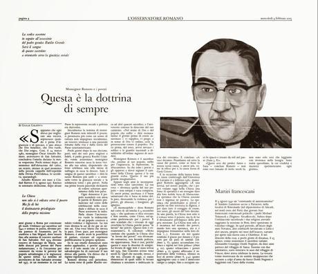 Bientôt un nouveau bienheureux latino-américain: Oscar Romero [Actu]
