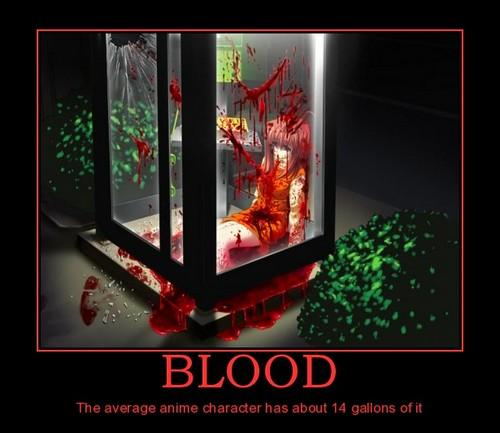 14 gallons of blood - 45 litres de sang
