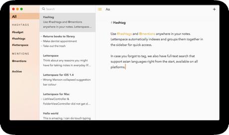 Letterspace pour iPhone et iPad : un bloc-notes simple et efficace