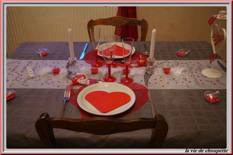 Ma table saint valentin grise et rouge 2015 paperblog for Table saint valentin