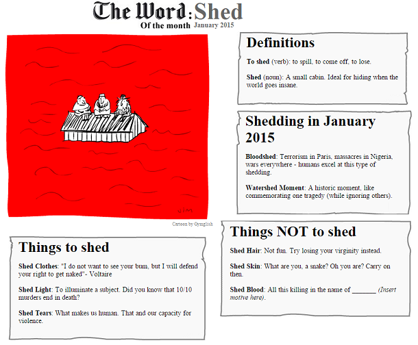 The Word of the Month (JANUARY 2015) : SHED