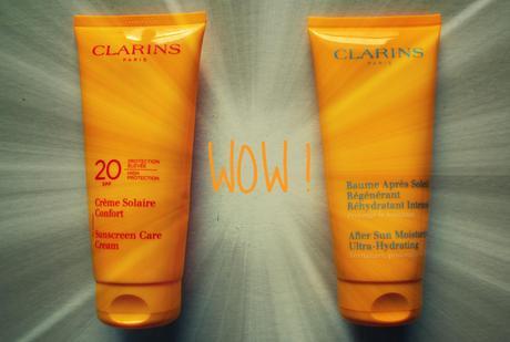 LA découverte d'une vie : la crème solaire et l'après soleil Clarins !