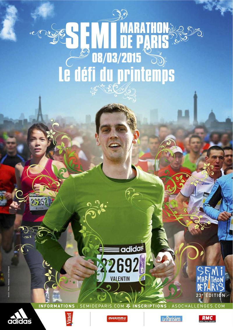 Affiche officielle du semi-marathon de Paris 2015