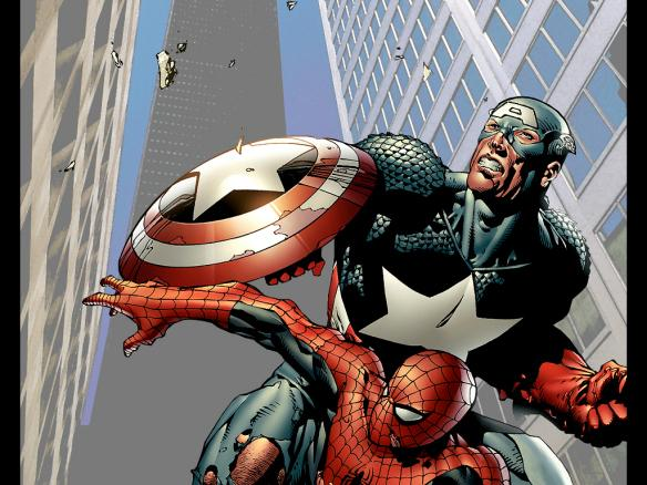 captain-america-and-spiderman-by-jp