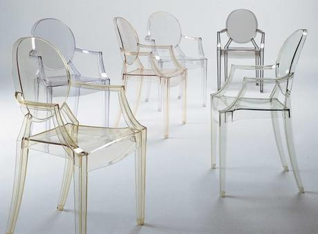 Chaise Louis Ghost par Philippe Starck