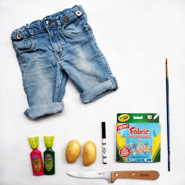 diy-watermelon-stamp-shorts