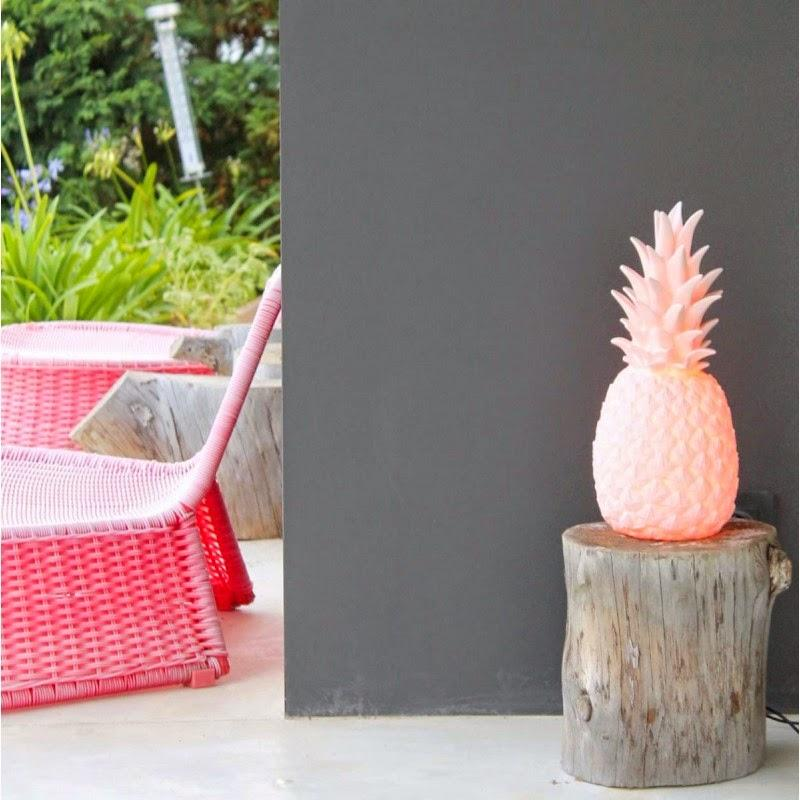 hellocoton, lampe ananas, mr wonderful, twicy store, bloomingville, scandinave, present time, pastel, décoration,