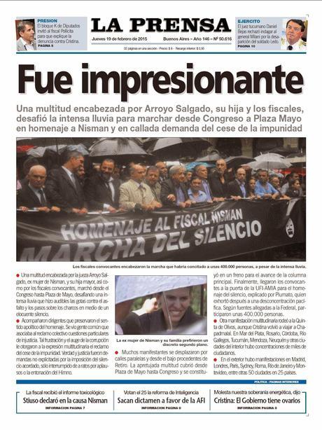 Marche silencieuse sous la pluie après la mort du juge Nisman [Actu]