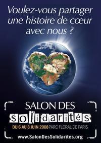 2ème Salon des Solidarités : J-8 pour comprendre les enjeux de la solidarité, partager des histoires de cœur, faire un premier pas vers l'engagement, …