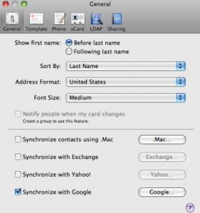 sync google iphone mac
