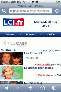 LCI sur iPhone