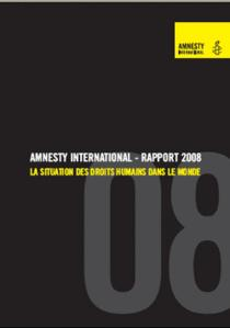 Amnesty international : RAPPORT ANNUEL 2008