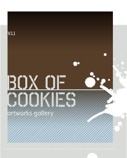 Box of cookies, artworks gallery et des sérigraphies limitées