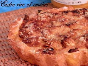 Tartelettes poireaux / fromage de chèvre sur pâte brisée au curcuma