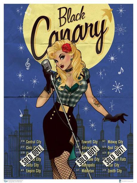 pin up black canary par Ant Lucia