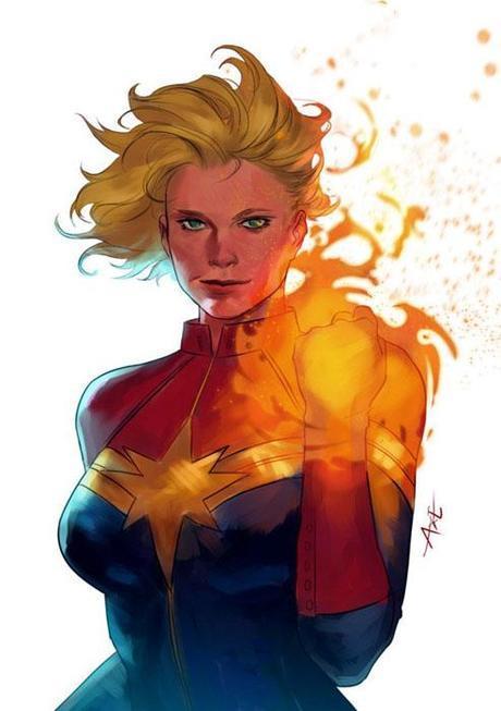 Captain Marvel par Axeeeee