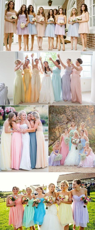 Un mariage pastel tout en douceur et en couleur for Robe couleur pastel pour mariage