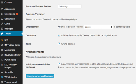 Twitter a maintenant sa propre extension WordPress
