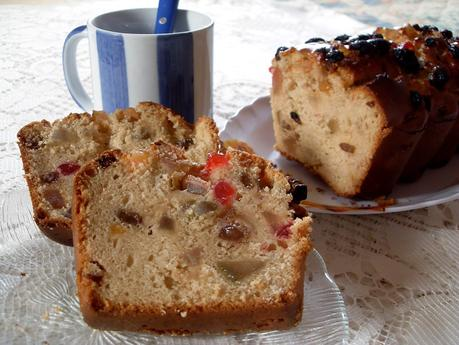 Cake aux fruits confits (Vegan)