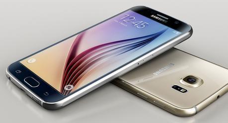 Le Galaxy S6 (ci-dessus) partage le même design que celui du Galaxy S6 Edge (en entête de l'article).