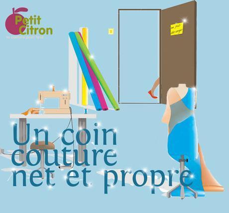 Un atelier de couture net et propre