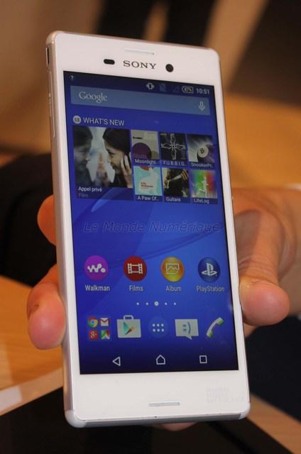 MWC 2015 : Smartphone Sony Xperia M4 Aqua parce qu'étanche