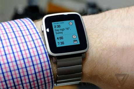 La Pebble Time Steel (Photo : The Verge).