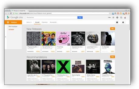Google Play Music: 50.000 morceaux hébergés gratuitement