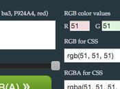 Convertir code couleurs rgba outil ligne