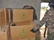 soldats irakiens découvrent vivres saoudiens dans caches Daech