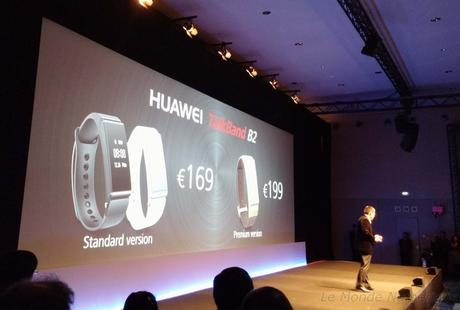 MWC 2015 : Bracelet connecté tracker et oreillette Bluetooth Huawei TalkBand B2