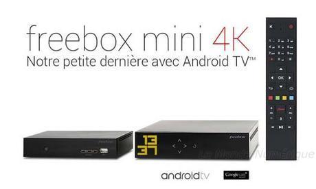 Free lance la Freebox Mini 4K sous Android TV, lecture 4K pour 29,99 € par mois