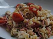 Salade blé, jambon, tomates cerise feta.