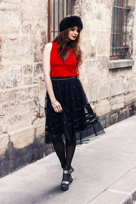 red black outfit
