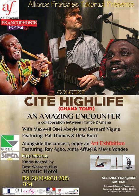 Takoradi, concert de Cite Highlife et Yaw Dela Botri 20 Mars 2015