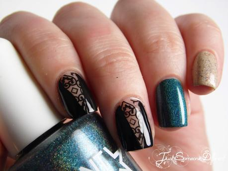 Negatice space stamping