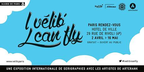 I Vélib', I can fly : 19 sérigraphes internationaux livrent un regard inédit sur Paris