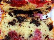 Cake amande framboise chocolat