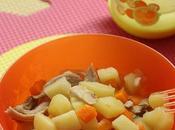 Poulet, carottes pommes terre 10/12 mois