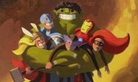 Avengers Hug par Nathan Stapley