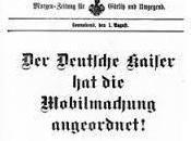 Guerre 1914-1918: Mobilisation Allemagne