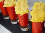Crème piquillos tuiles parmesan