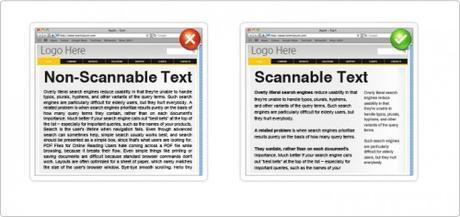 texte scannable