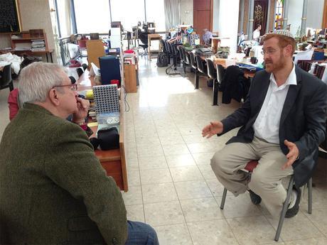 Charles Enderlin et le rabbin Yehuda Glick.