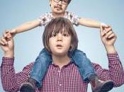 Parents/enfants échange tête
