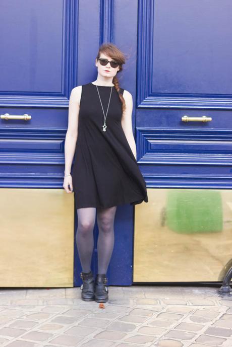look robe noire été